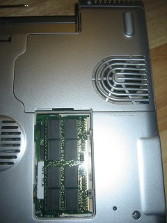 Step 2: Remove RAM slot cover.