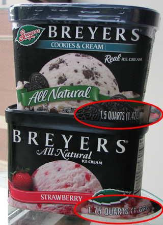 The incredible shrinking ice cream